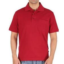 Maddock - Red Polo Neck T-Shirt with collar and pocket