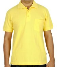 Maddock - Yellow Polo Neck T-Shirt with collar and pocket
