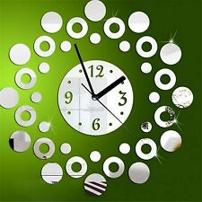 Modern Design 3D DIYRound Acrylic Mirrors Wall Clock- LaserCraftStore-A1020