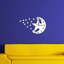 fashinal moon and star acrylic wall clock sticker - LCS-A1069 Multi color