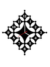 Diamond Art Wall Clock Design Multicolor-LaserCraftStore-A1076