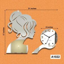 3D Girl wall clock unique design acrylic modern home decor wall clock-A1022