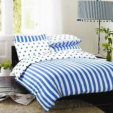 """ BLUE STRIPE "" Duvet Set inc Duvet Cover Pillow cases.4 X SIZES AVAILABLE  NEW"