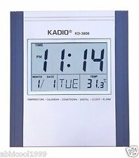 Kadio Jumbo Digit Wall/Desk Clock With Alarm/Room Thermomete/Calender/Timer Etc