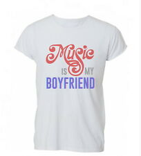 Music Is My Boyfriend Lovers Funny Cool Mens TShirt Ladies Top
