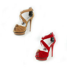 WOMENS LADIES PLATFORM STRAPPY STILETTO HIGH HEEL SHOES SANDALS SIZE 3-7