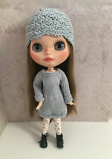 Blythe Outfit-Handmade Dress, hat and tights. Buy together or separately