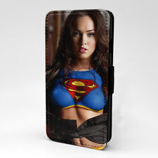 Megan Fox Phone PC Leather Flip Case Cover - Supergirl - S-T0010