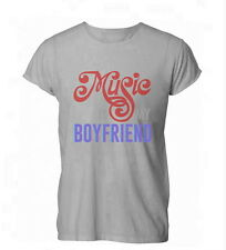 Music Is My Boyfriend Lovers Funny Cool Mens Womens TShirt Grey