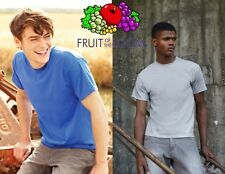 FRUIT OF THE LOOM herren T-SHIRT Kurzarm BAUMWOLLE 19 farben T-SHIRT