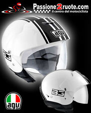 Casco jet helmet Agv New Bali B3 bianco nero white black casque