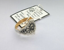 Stunning Russian Niello .925 Silver & Gold Plated Shaped FAN Ring