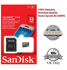 100% SanDisk 8GB 16GB 32GB SDHC Class 4 Micro Memory SD Card +Adapter for Phones