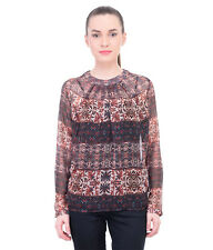 Oxolloxo Women Floral Pleated Top (W16023WBL003)
