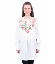 Oxolloxo Women Off-White Embroidered Tunic (W16151WBL004)