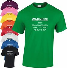 Warning Spontaneously Start Hable por usted Golf Niños camiseta Golfing Infantil