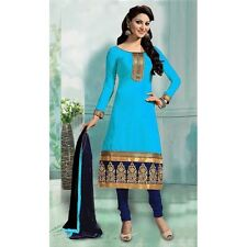 Ethnic Wear Sky Blue Art Silk Dress Material  - 70749A
