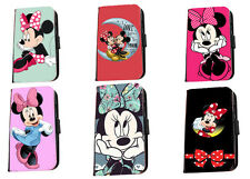 Minnie Mouse cute cartoon faux leather phone case for Iphone Samsung HTC LG Sony