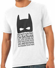 I Am Batman Funny Dark Knight Fan T-Shirt Tshirt White
