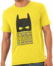 I Am Batman Funny Dark Knight Fan T-Shirt Tshirt Yellow