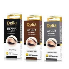 Delia Henna Colour Cream for Eyebrow and Lashes with Argan Oil Tint Set 3 Shades