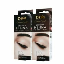 Delia Procolor Henna Gel Eyebrows Lashes Brown Black Tint Kit 15 ml Choose Shade