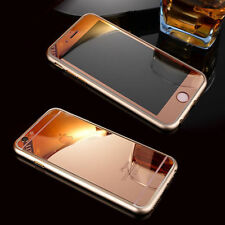 COMBO For Apple iPhone 6/6s 5/5S Rose Gold Tempered Glass + Gold Bumper Case
