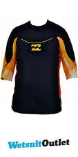 Billabong Mens Revolution Short Sleeved Rash Vest Black/Orange M4MY12