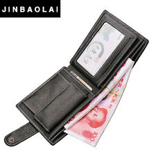 New Men Wallets Leather Genuine With Coin Bag Jinbaolai Male Wallet Casual Purse