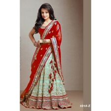 Bollywood Inspired - Traditional Red & Green Lehenga - 1018-E