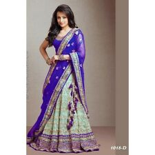 Bollywood Inspired - Designer Blue & Green Lehenga - 1018-D