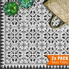 ZAMORA Mediterranean Moroccan Tile - Furniture Wall Floor Stencil for Painting