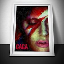 Lady Gaga Painting Print.  Lady Gaga Poster. Multiple sizes available.