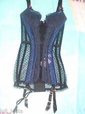 AGENT PROVOCATEUR INDIGOE BLACK & BLUE CORSELETTE BASQUE ALL SIZES RRP £325 BNWT
