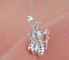 NEW Beautiful 925P Silver Honey Bee Necklace, UK Seller