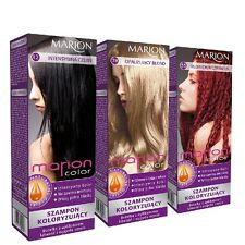 Marion Color Hair Shampoo Coloring No Ammonia with Argan Oil and Macadamia Oil