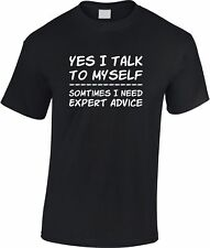 Yes I Talk To MySelf Children's T Shirt Cool Kid's Funny Humour Gift Xmas Tee