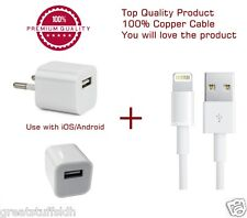 Charger/Charging/Adapter with Data Cable for iPhone 5/5s/6/6s/Plus