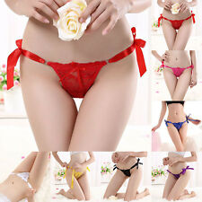 Women's Lace Sexy Lingerie Strap Underwear Knickers Thongs G-string Panties