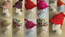 Summer Baby Girl Toddler Hat, Bandana Hat, headscarf its all sizes from 0-24m BN