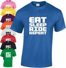 Eat Sleep Ride REPETIR Niños Camiseta Divertida Infantil cool navidad HUMOR