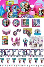 Disney Frozen Girls Birthday Party Tableware Supplies Banners Loot Bags Favours