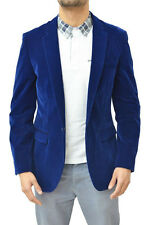 Men's Two Button Single Breasted Formal Imported Velvet Blazer