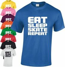Eat Sleep Skate REPETIR Niños Camiseta infantil Skating skateboard Regalo