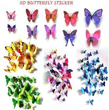3D Butterfly Wall Stickers Art Decal Home Room Decorations Decor Kids 12 PCS.