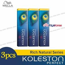 3 x Wella Koleston Perfect Haarfärbemittel Hair Color Dye 60g Rich Natural