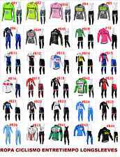 Ropa ciclismo entretiempo larga longsleeves 2016 maillot y culote cycling vélo