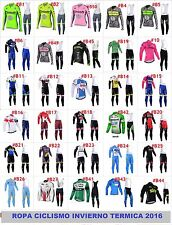 Ropa ciclismo invierno termica 2016 thermal fleece maillot y culote cycling vélo