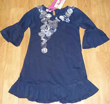 Beetlejuice baby girl longsleeve dress 1-2 y (18-24 m) BNWT designer navy party
