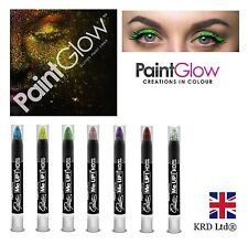 Genuine PaintGlow GLITTER PAINT LINER Party Rave Eye Body Make Up Crayon Neon UK